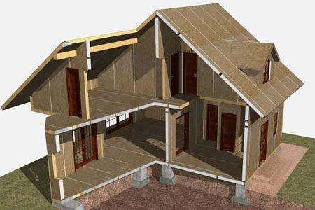 Строительство зданий на основе стеновых SIP панелей в Волжском