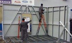 Строительство торговых павильонов в Волжском БМЗ